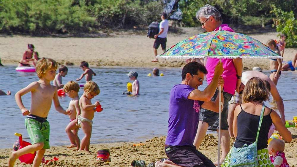Camping familial plage Arcachon