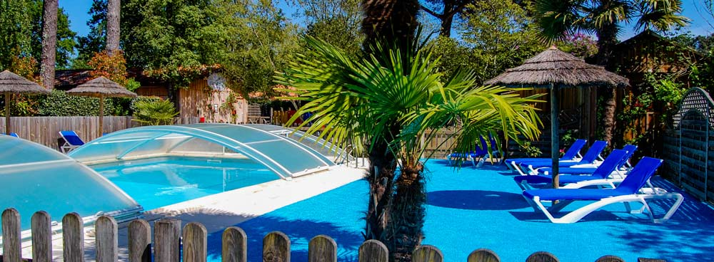 Camping piscine chauffée bassin d'Arcachon