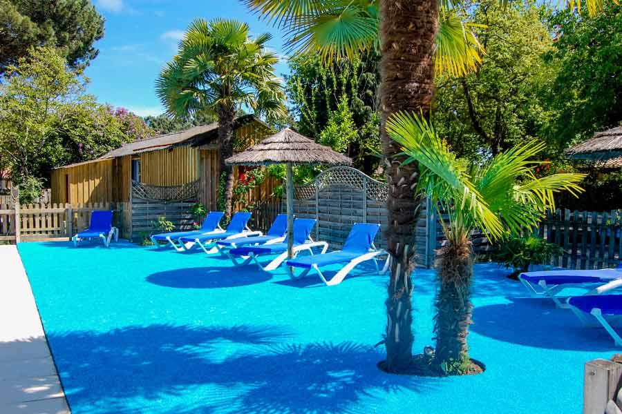 Camping avec piscine chauffée Gironde